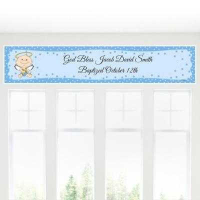 Angel Baby Boy shower Banner