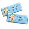 Angel Baby Boy - Personalized Baptism Candy Bar Wrapper Favors