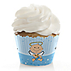 Angel Baby Boy - Baptism Cupcake Wrappers & Decorations