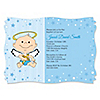 Angel Baby Boy - Personalized Baptism Invitations