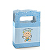Angel Baby Boy - Personalized Baptism Mini Favor Boxes