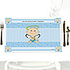 Angel Baby Boy - Personalized Baptism Placemats