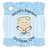 Angel Baby Boy - Personalized Baptism Tags - 20 ct