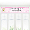 Angel Baby Girl - Personalized Baptism Banners