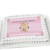 Angel Baby Girl - Personalized Baptism Cake Toppers