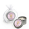 Angel Baby Girl - Personalized Baptism Candle Tin Favors