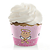 Angel Baby Girl - Baptism Cupcake Wrappers & Decorations