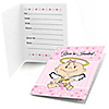 Angel Baby Girl - Baptism Fill In Invitations - 8 ct