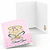 Angel Baby Girl - Baptism Thank You Cards - 8 ct