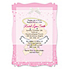 Angel Baby Girl - Personalized Baptism Vellum Overlay Invitations