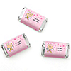 Angel Baby Girl - Personalized Baptism Mini Candy Bar Wrapper Favors - 20 ct