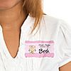 Angel Baby Girl - Personalized Baptism Name Tag Stickers - 8 ct