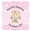 Angel Baby Girl - Personalized Baptism Tags - 20 ct