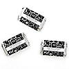 Modern Floral Black & White - Any Year - Personalized Wedding Anniversary Mini Candy Bar Wrapper Favors - 20 ct