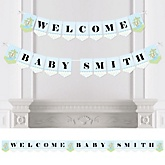 Baby Boy Dinosaur - Personalized Baby Shower Bunting Banner