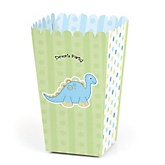 Baby Boy Dinosaur - Personalized Party Popcorn Favor Treat Boxes