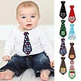 Baby's First Holiday Milestone Tie Stickers - 8 Necktie Pieces
