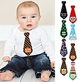 Baby's First Holiday Milestone Tie Stickers - 8 Necktie Pieces