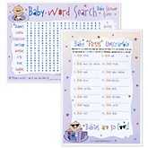 Two Games in One - Baby Firsts Unscramble and Baby Word Search - 18 Count