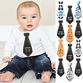Baby's First Milestone Tie Stickers - 12 Necktie Pieces