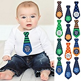 Baby's First Funny Milestone Tie Stickers - 12 Necktie Pieces