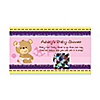 Baby Girl Teddy Bear -  Personalized Baby Shower Game Scratch Off Cards - 22 ct