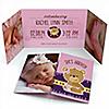 Baby Girl Teddy Bear - Photo Birth Announcements