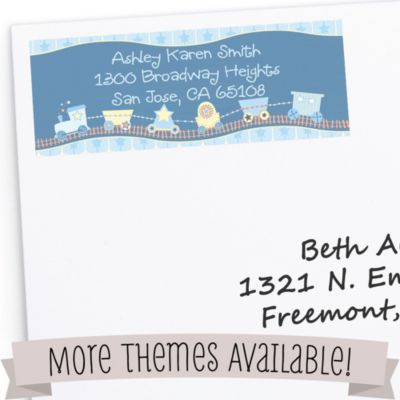 baby shower return address labels
