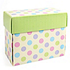 Small Polka Dot Gift Box - Baby Shower Do It Yourself