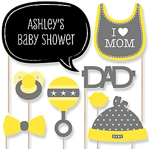 Baby Neutral - Baby Shower Photo Booth Props Kit - 20 Props
