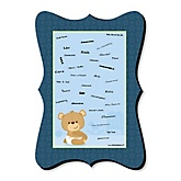 Baby Boy Teddy Bear - Unique Alternative Guest Book - Baby Shower Signature Mat