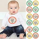 Baby's First Funny Milestone Stickers - 12 Pieces
