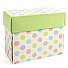 Small Polka Dot Gift Box - Baptism Do It Yourself