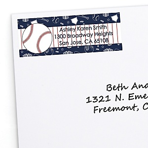 Batter Up - Baseball - Personalized Baby Shower Return Address Labels - 30 ct