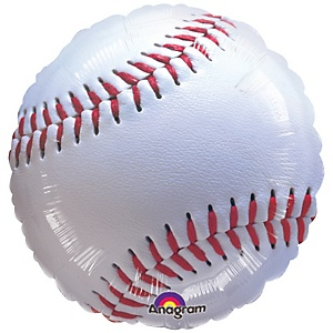 "18"" Championship Baseball - Shaped Baby Shower Mylar Balloon"
