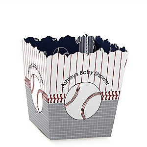 Batter Up - Baseball - Personalized Baby Shower Candy Boxes