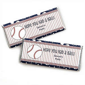 Batter Up - Baseball - Personalized Baby Shower Candy Bar Wrapper