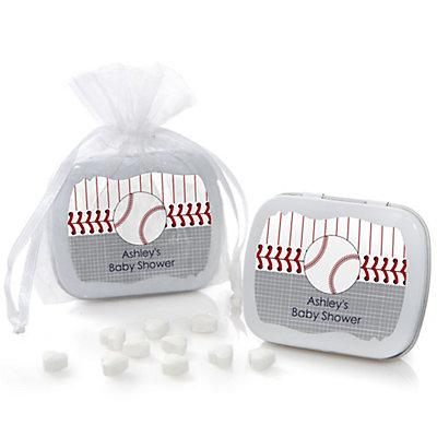 Batter Up - Baseball - Mint Tin Personalized Baby Shower Fav...