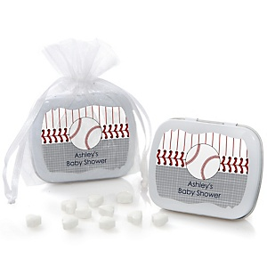 Batter Up - Baseball - Personalized Baby Shower Mint Tin Favors