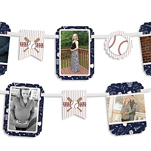 Batter Up - Baseball - Baby Shower Photo Bunting Banner