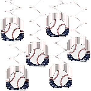 Batter Up - Baseball - Baby Shower Hanging Decorations - 6 ct