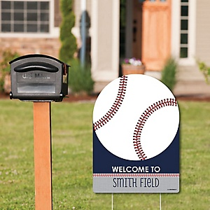 Batter Up - Baseball - Party Decorations - Birthday Party or Baby Shower Personalized Welcome Yard Sign