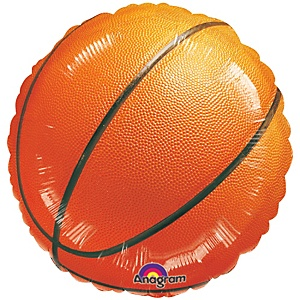 "18"" Championship Basketball - Shaped Baby Shower Mylar Balloon"