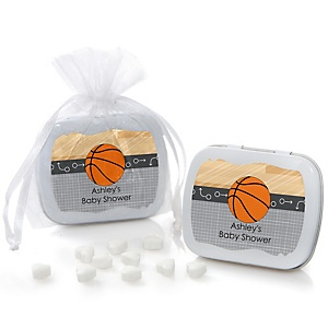 Nothin' But Net - Basketball - Mint Tin Personalized Baby Shower Favors
