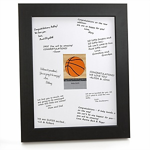 Nothin' But Net - Basketball - Personalized Baby Shower Print with Signature Mat