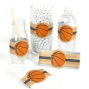 Nothin' But Net - Basketball - Do It Yourself Baby Shower Wrappers - 15 Count