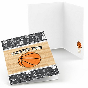 Nothin' But Net - Basketball - Baby Shower Thank You Cards - Set of  8