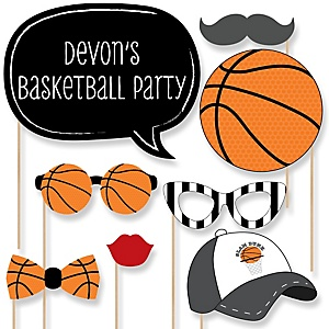 Nothin' But Net - Basketball - Baby Shower Photo Booth Props Kit - 20 Props
