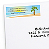 Beach - Personalized Bridal Shower Return Address Labels - 30 ct