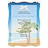Beach - Personalized Bridal Shower Vellum Overlay Invitations